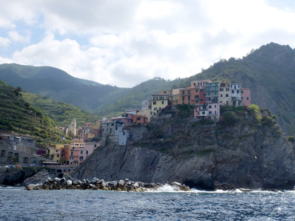 Sailing on Cinque Terre: beautiful italian area.