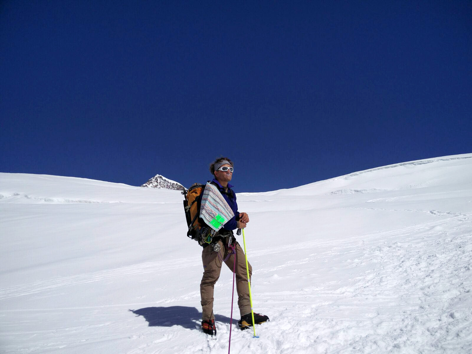 Tambo on Monte Rosa with superlight towel