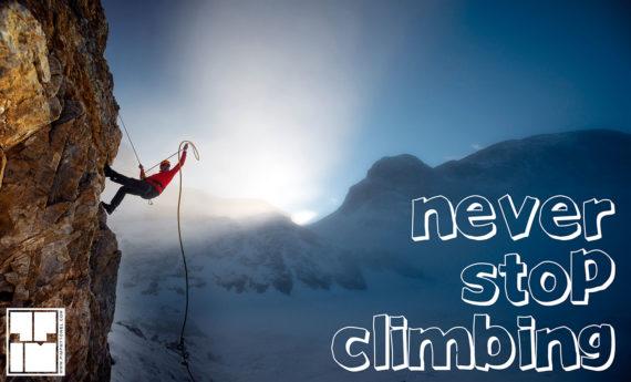 NEVER STOP CLIMBING – Microfiber towel superlight