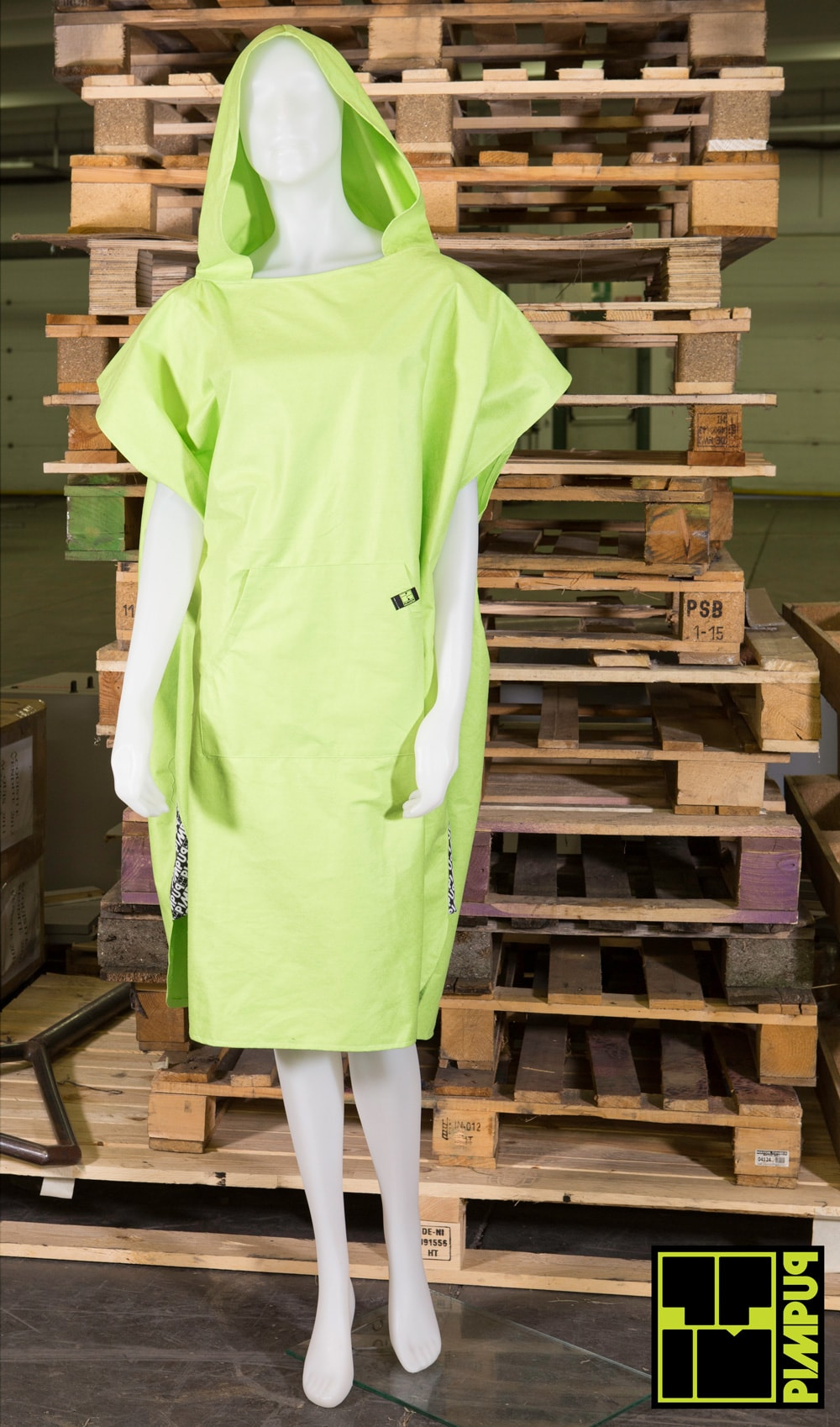 Microfiber DrySecc Poncho GREENERY for outdoor and water sport