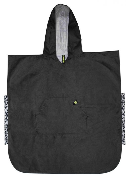 Microfiber DrySecc Poncho with pocket, elastic band and a large hood by PIMPUP.