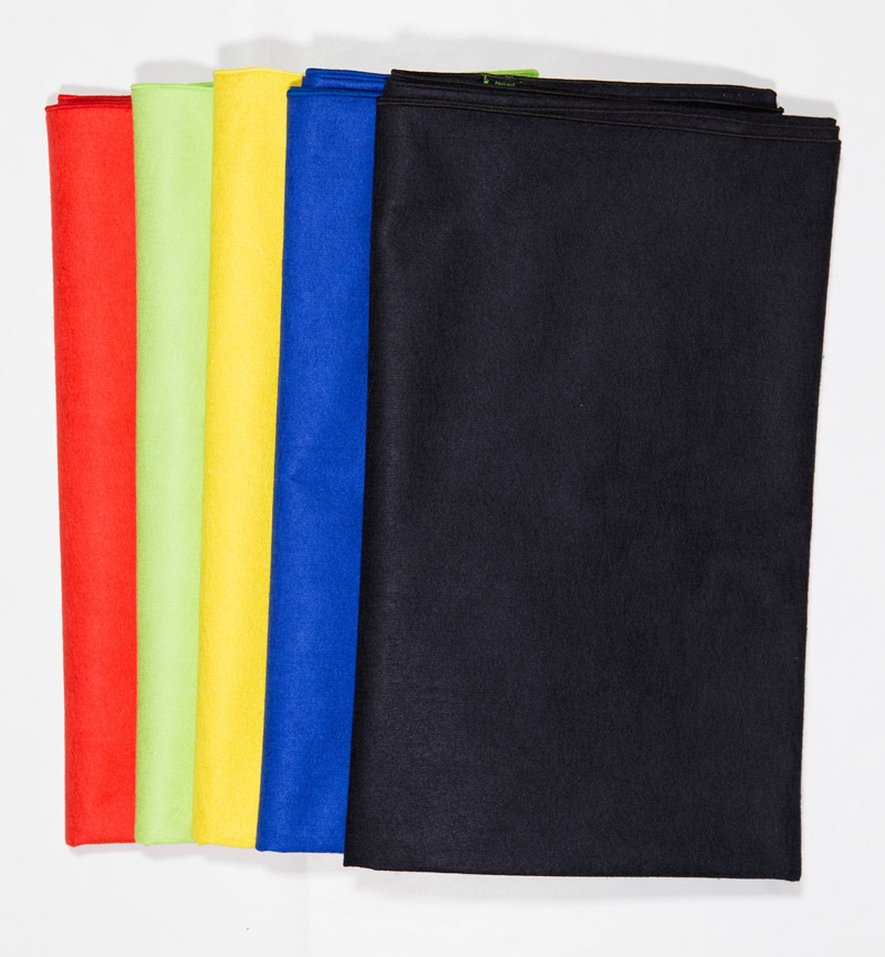 PIMPUP solid color microfiber towels: Yello Greenery red blue black