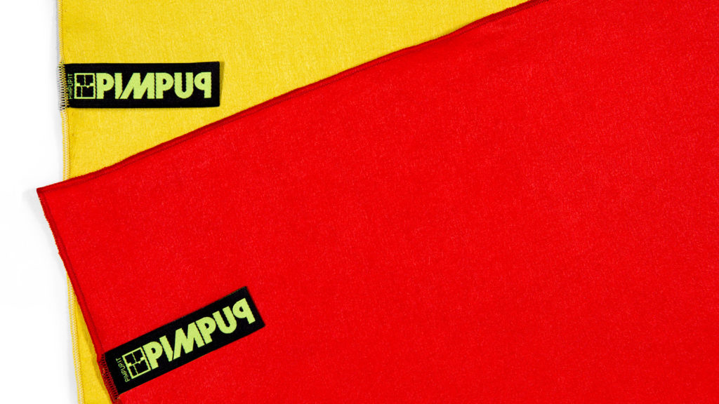PIMPUP solid color microfiber towel